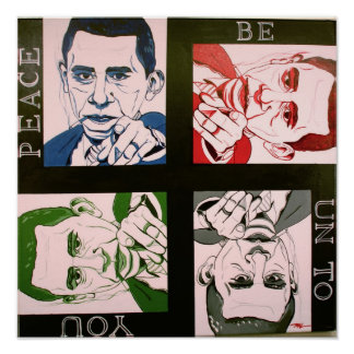 """Obama, Peace Be Unto You"" poster art"