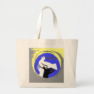 Obama Peace Dove Tote Bag