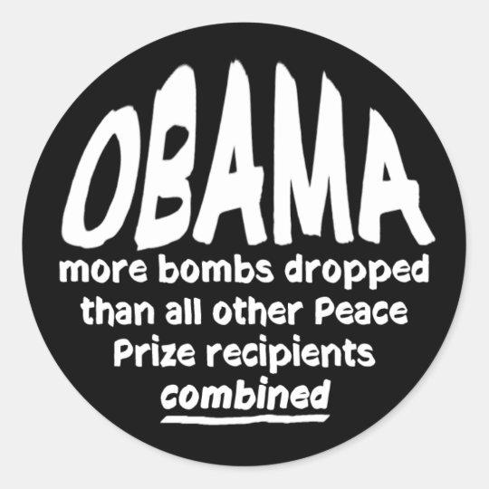 Obama Peace Prize Bombs Sticker