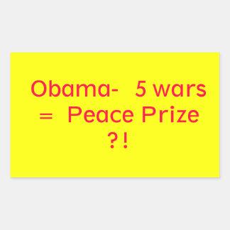 Obama Peace Prize Rectangular Stickers