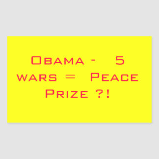 Obama Peace Prize Sticker