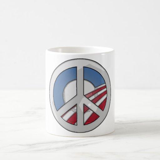 Obama Peace Sign Classic White Coffee Mug