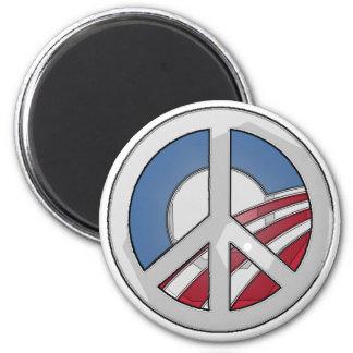 Obama Peace Sign Refrigerator Magnet