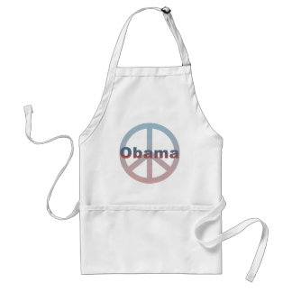 Obama Peace Symbol Adult Apron