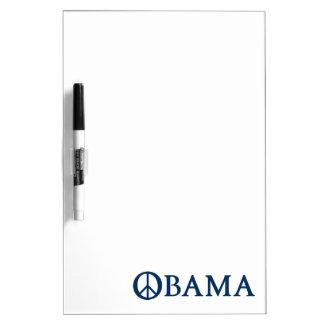 Obama Peace Symbol Dry Erase Whiteboard