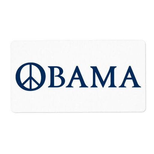 Obama Peace Symbol Shipping Labels