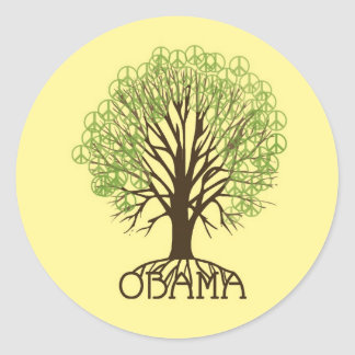 Obama Peace Tree Sticker