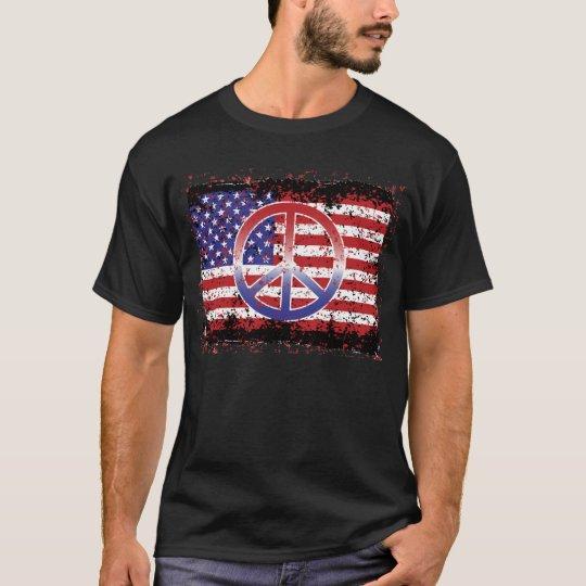OBAMA Peace US Flag 91200 T-Shirt