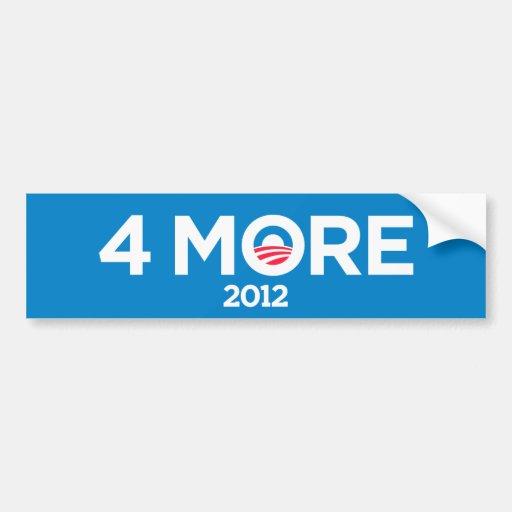 Obama pegatina para el parachoques 2012 de 4 más a etiqueta de parachoque