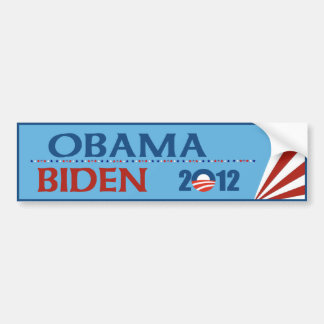Obama - pegatina para el parachoques 2012 de Biden Pegatina Para Auto