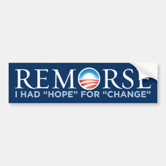 Obama - pegatina para el parachoques del remordimi pegatina para auto