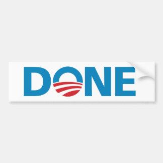 "Obama, pegatina para el parachoques ""HECHA"" Etiqueta De Parachoque"