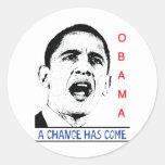 Obama Pegatina Redonda