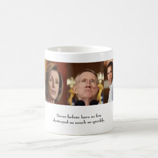 Obama Pelosi Reid Never before Classic White Coffee Mug