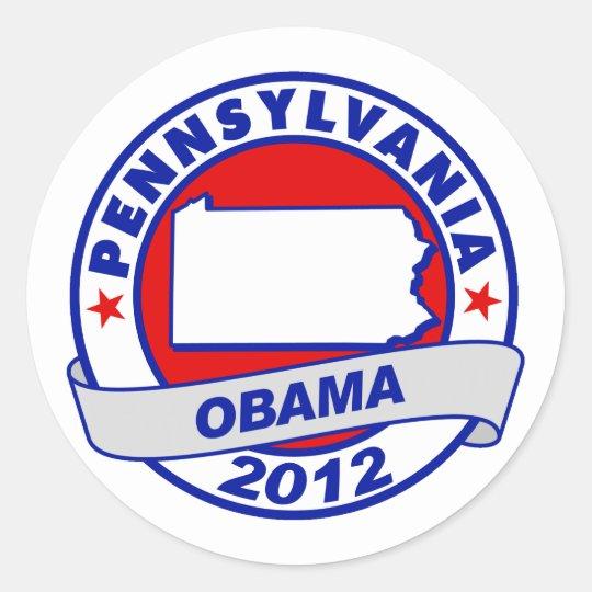 Obama - pennsylvania classic round sticker