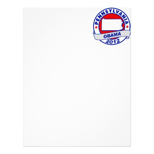 Obama - Pennsylvania Membretes Personalizados