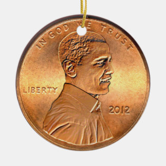 Obama Penny 2012 Ornament