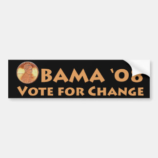 Obama Penny Bumper Sticker