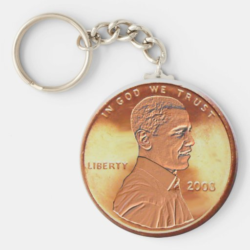 Obama Penny Keychain