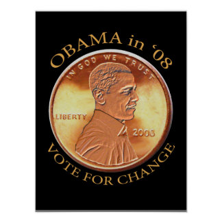 Obama Penny Poster