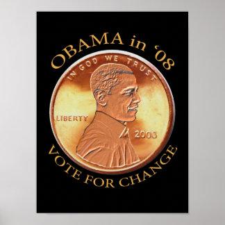 Obama Penny Poster