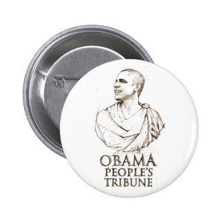 Obama People's Tribune Pinback Button