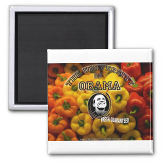 Obama peppers FRESH GUARANTEED 2 Inch Square Magnet