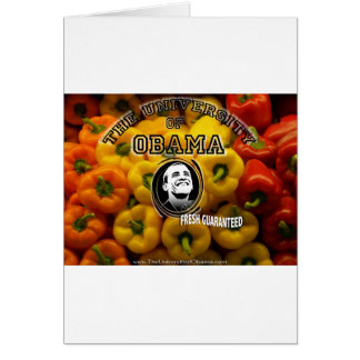 Obama peppers FRESH GUARANTEED Card