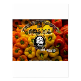 Obama peppers FRESH GUARANTEED Postcard