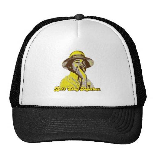 Obama - permanezcamos junto gorras de camionero