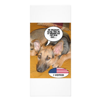 Obama Pet/Whitehouse Humor Rack Card