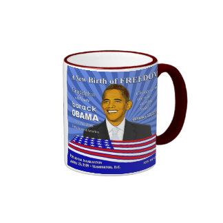 Obama Philadelphia Pennsylvania Celebration Ringer Coffee Mug