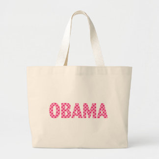 Obama-Pink Kisses Large Tote Bag