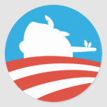 Obama Pinocchio Logo Classic Round Sticker