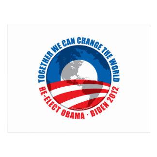 Obama: Podemos cambiar el mundo Tarjeta Postal