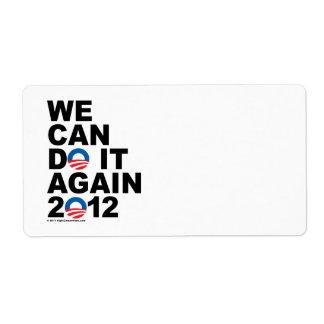 Obama Podemos hacerlo otra vez Etiqueta De Envío