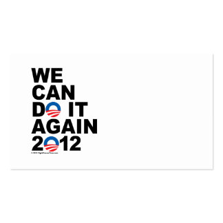 Obama: Podemos hacerlo otra vez Tarjetas De Visita