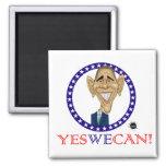 ¡Obama podemos sí! Imán De Frigorifico