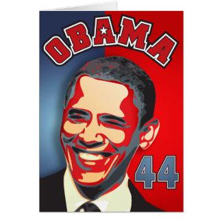 Obama - podemos sí tarjeta de felicitación