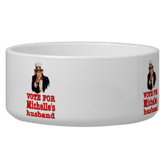 Obama political design Vote For Michelle's Husband Bowl