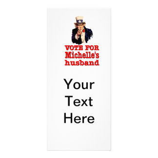 Obama political design Vote For Michelle's Husband Rack Card Template