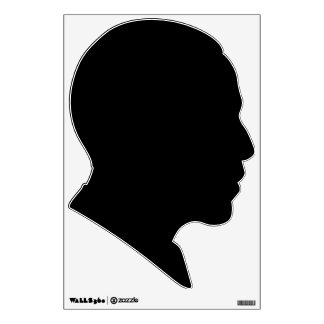 obama political silhouette black wall decal