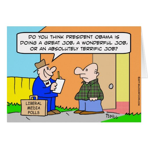 Obama pollster liberal media greeting card