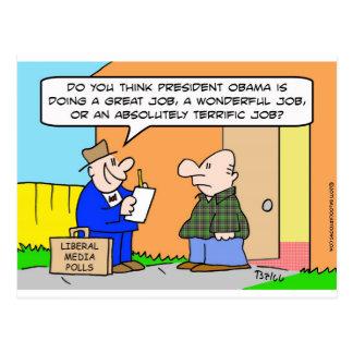 Obama pollster liberal media postcard