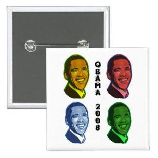 Obama Pop Art Button