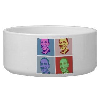 Obama Pop Art Dog Food Bowl