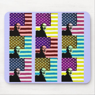 Obama Pop Art Flag Mousepad