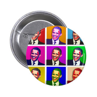 Obama Pop Art Style Pinback Button