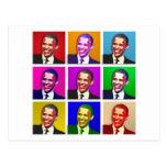 Obama Pop Art Style Postcard
