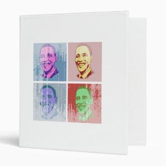 Obama Pop Art Vintage.png Vinyl Binder